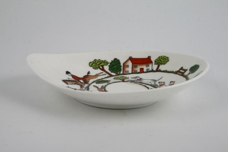 Crown Staffordshire - Hunting Scene - Dish (Giftware) - Bon-Bon