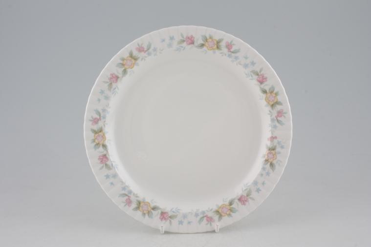 Hammersley - Fluted - Pink + Yellow Flowers - Starter / Salad / Dessert Plate