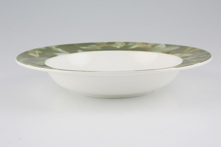 Aynsley - Onyx Green - No Gold - Rimmed Bowl