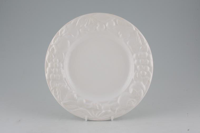 Marks & Spencer - White Embossed - Breakfast / Salad / Luncheon Plate - Wide Rim