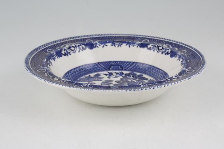 Meakin - Old Willow - Rimmed Bowl