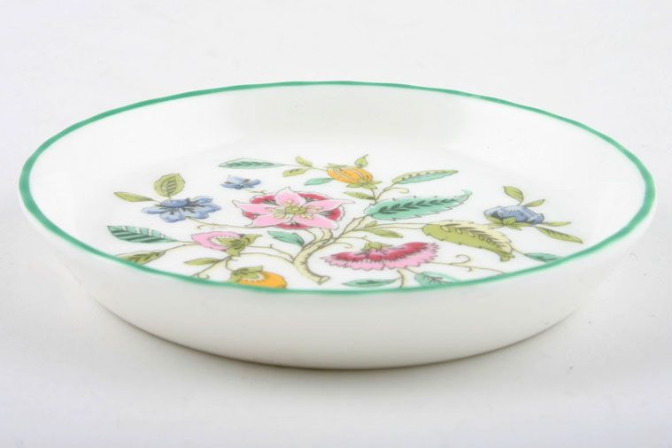 Minton - Haddon Hall - Green Edge - Coaster - Bone china