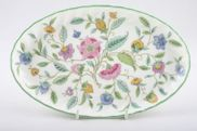 "Minton - Haddon Hall - Green Edge - Tray (Giftware) - 8 1/2"" - Oval Dressing Table Tray"