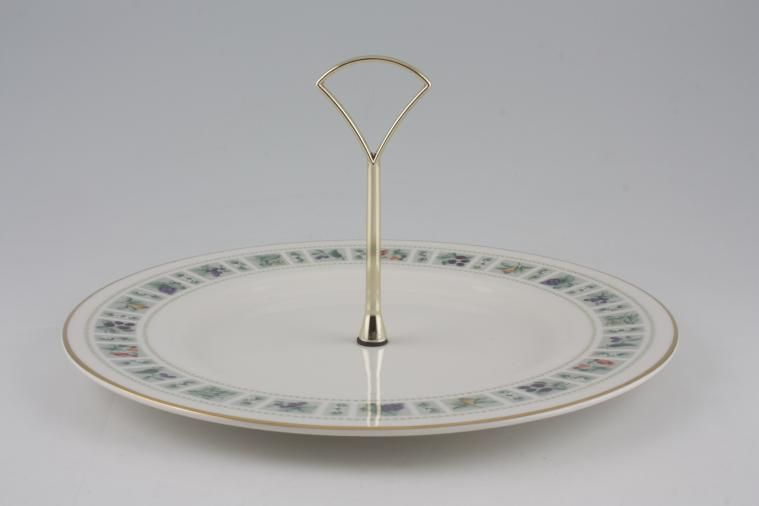 Royal Doulton - Tapestry - Fine & Translucent China T.C.1024 - 1 Tier Cake Stand - with 10 1/2