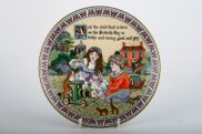 """Royal Worcester - Days Of The Week - Modern - Wall Plate - 7 3/8"""" - Sunday, Birthaday Plates"""