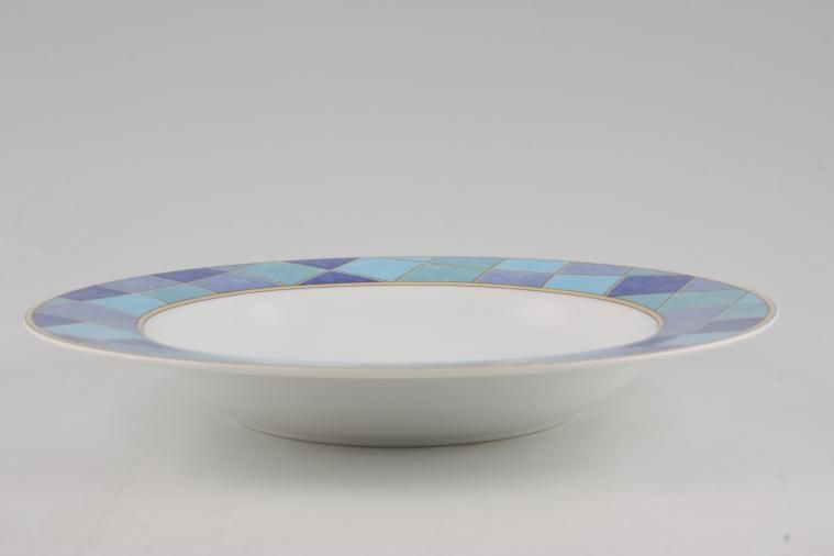 TTC - Blue Squares - Topchoice - Rimmed Bowl