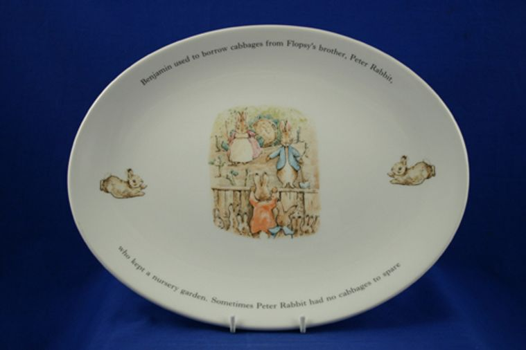 Wedgwood - Peter Rabbit - Original - Oval Plate / Platter